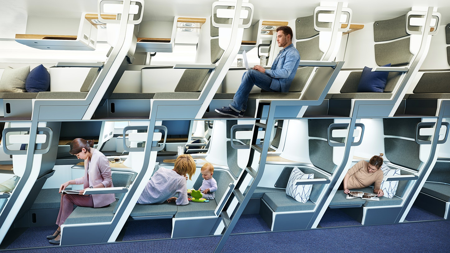 Are these double-decker lie-flat seats the future of economy flights?